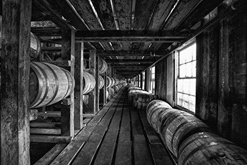 Bourbon Barrel Fine Art Print | Wild Turkey | Whiskey Canvas | Bourbon Whiskey Print | Bourbon Warehouse | Pub Decor | Man Cave Decor | Kentucky Bourbon | Bar - Turkey Whiskey