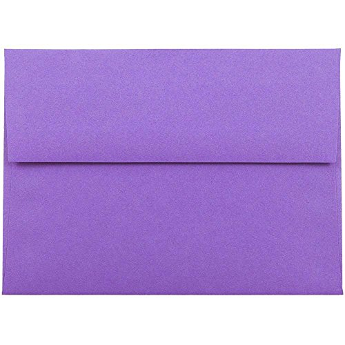 JAM PAPER A6 Colored Invitation Envelopes - 4 3/4 x 6 1/2 - Violet Purple Recycled - 25/Pack ()