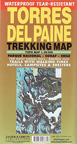 Torres del Paine Waterproof Trekking Map (English/Spanish Edition)