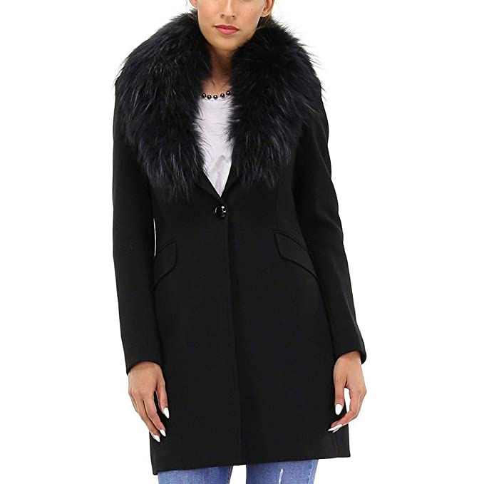 Kocca Giacca Cappotto donna finata pelliccia staccabile JOLUKAFUR (M)   Amazon.it  Abbigliamento 208ba749166