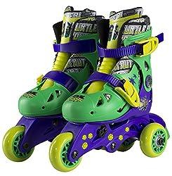 Teenage Mutant Ninja Turtles Convertible 2-in-1 Kids Skate, Junior Size 6-9