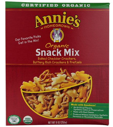 Annies Homegrown Organic Bunnies Snack Mix, 9 Ounce -- 12 per case.