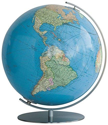Physical Political Map Set (Columbus Rothenburg 16 Inch Illuminated Desktop Globe)