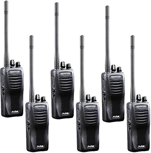 Kenwood TK-3402U16P ProTalk 5 Watt Two-way Radio (Pack of 6), UHF, 16 Channels, Black Color - Colour 12 Ppm