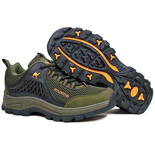 Scarpe Da Trekking Con Lacci Da Uomo Comode, Impermeabili E Traspiranti, Ideali Per Escursioni, Corsa, Camminata, Coda Verde Militare