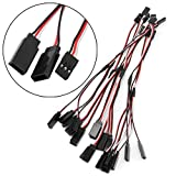 Kocome 10Pcs 150mm Y Style RC Extension Servo Wire Lead Cord Cable For JR Futaba 15cm