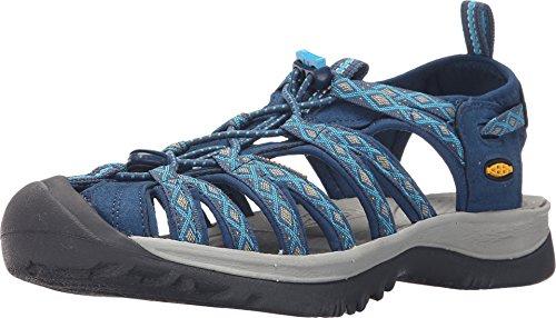 KEEN Women's Whisper Sandal,Poseidon/Blue Danube,8.5 M US