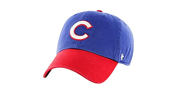 779edb52b7d Amazon.com   Chicago Cubs  47 Clean Up Batting Practice Adjustable Hat -  Royal Red   Sports   Outdoors.
