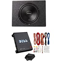 Rockford Fosgate 12 500W Subwoofer + Sealed Sub Box + Boss Riot 1100W Amplifier