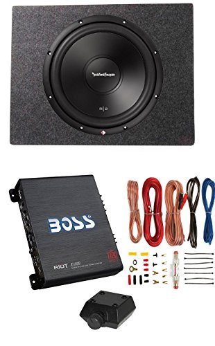 Inch 500W Subwoofer + Sealed Sub Box + Boss Riot 1100W Amplifier (Rockford Fosgate Subwoofer Enclosures)