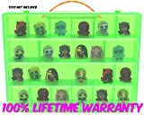 Monster High Mini Toys Carrying Case - Stores Dozens Of Monster High Mini Figure And Toys - Durable Toy Storage Organizers By Life Made Better - Green