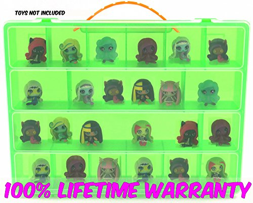 Monster High Mini Toys Carrying Case - Stores Dozens Of Monster High Mini Figure And Toys - Durable Toy Storage Organizers By Life Made Better - Green - Diy Rocker Girl Costume