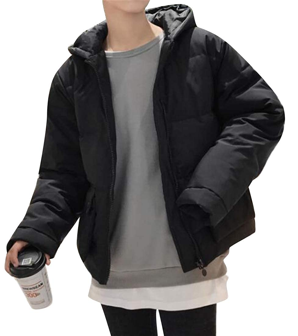 XiaoTianXinMen XTX Men Plus Size Loose Winter Hooded Warm Down Puffer Jacket Coat Outwear