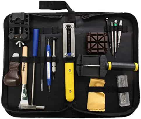 Baban 29Pcs Watch Tool Set With Black Carrying Case Professional Watchmaker Repair Tool Kit Case