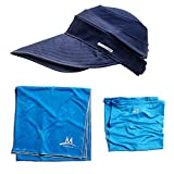 Mission Cooling Accessories Multi Pack Includes Garden Hat/Large Towel (2 Pack), Navy & Blue, One Size