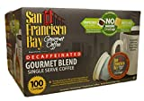 San Francisco Bay Gourmet Blend DECAF Single Serve Coffee Pods (100 Count) K-cup