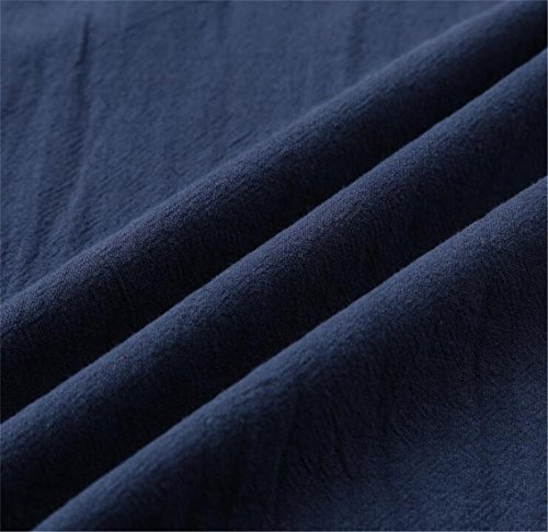 Pleated Down Navy Womens Loose Sleeve Cromoncent Botton Blue Dress Long Hooded Swing Maxi A4BUApcqT