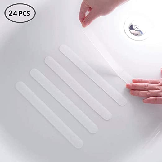 20Pcs Bath Tub Anti-slip Stickers Slip PEVA Self-adhesive Fashion Toilet Decals