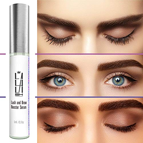 68cc961e6dd Natural Eyelash Growth Serum - Eyebrow Growth Serum - Made in USA - Lash  Booster for Longer, Thicker Natural ...