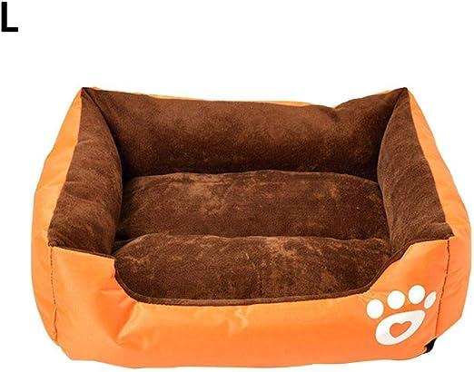 Cama para Perros Calming Dog Bed Large Cat Dog Bed Round Nest - Pet Suave calmante cojín Resistente Cuadrado Cama para Mascotas para Perros pequeños y Gatos, Amarillo, Large: Amazon.es: Hogar