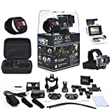 ActionPro 4K UHD TOUCH SCREEN Sports Camera with Wireless Wrist Remote and Headstrap - Touch Screen and Wireless Wrist Remote - 4K Ultra HD - Waterproof - Wide Angle Lens - 20 Accessories Included