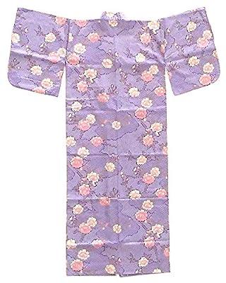 Japanese Kimono Yukata Women's Robe Made in Japan Lavender Purple Pink Gold White