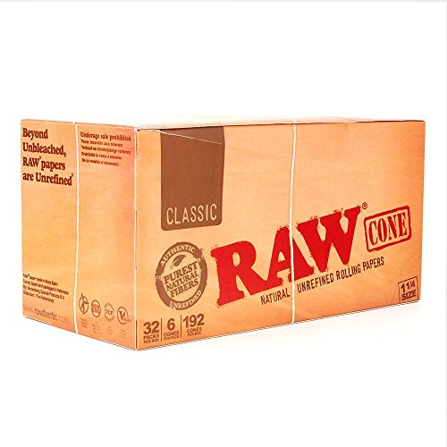 1-1/4'' RAW Pre-Rolled Cones (2 Cases - 32 packs per box; 6 cones per pack) - MJ-1203 by Verified Exchange