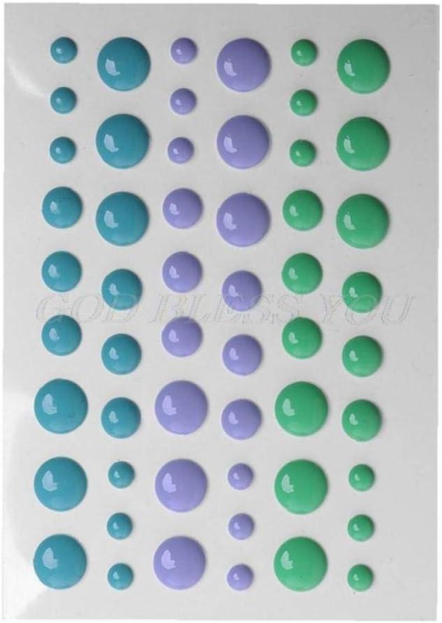 Zonfer 1sheet Auto-adh/ésif Dots R/ésine Autocollant Couleur De Sucrerie Sprinkles Autocollant Scrapbooking Photo Ablum Carte De Voeux D/écoration Autocollant