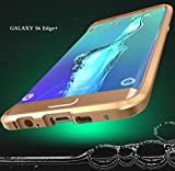 Galaxy S6 Edge Plus Case, 3D Curved Surface CNC Aviation Aluminum Alloy Metal Scratch-Resistant Built-in Sponge Drop Protection Bumper Frame Shell for Galaxy S6 Edge Plus Gold