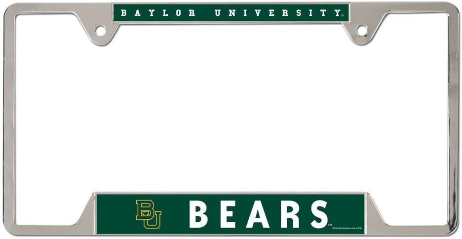 WinCraft NCAA Baylor University Metal License Plate Frame