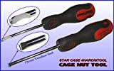 "Cage Nut Insertion Tool for 3/8"" Square Hole Rack Rail"
