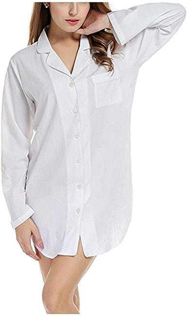 Camisa De Noche Elegante De Noche Mujeres Vintage Las Cálido Ovejas Ropa De Dormir Pijamas De Manga Larga Pijama Negligee Otoño: Amazon.es: Ropa y accesorios