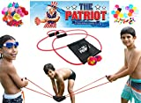 The Patriot Water Balloon Launcher / 200 Yards Slingshot / Includes 2 Splash Balls, Quick Fill Nozzle, 50 Bio Balloons
