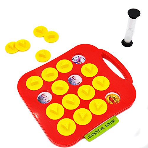 (elegantstunning Children Memory Training Matching Pair Game Early Education Interactive Toy Parent-Child Link up Chess Toys)
