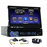 Wireless Backup Camera included Single one Din Car Autoradio Bluetooth for Automotive DVD Player in Dash Car Stereo GPS Navigation with 8GB gps map support Steering Wheel Control
