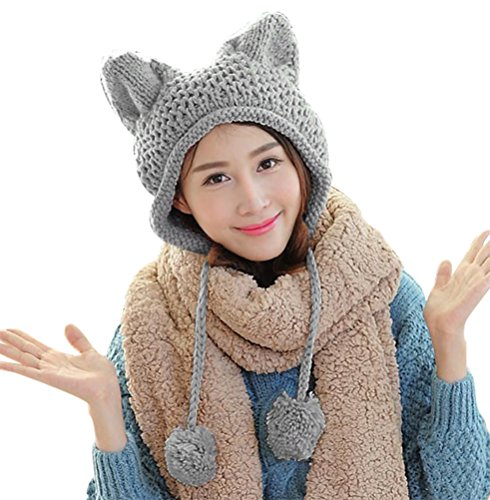Ear Cover Knit Hat - 4