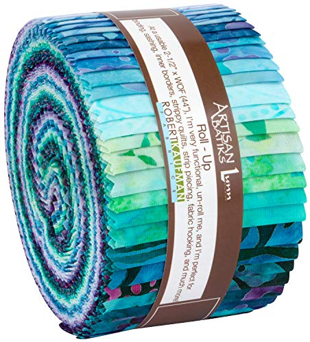 Lunn Studios Artisan Batiks Butterfly Blooms Roll Up 40 2.5-inch Strips Robert Kaufman RU-849-40