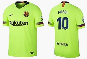 F.C. Barcelona Trikot 2018-2019 Away - Camiseta de Messi 10 para niño: Amazon.es: Deportes y aire libre