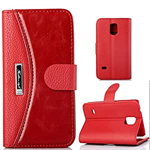 S5 Cases,S5 Case,Ezydigital Carryberry Wallet Stand Case Cover for Samsung Galaxy S5 SV S V with PU Leather and Card Slots