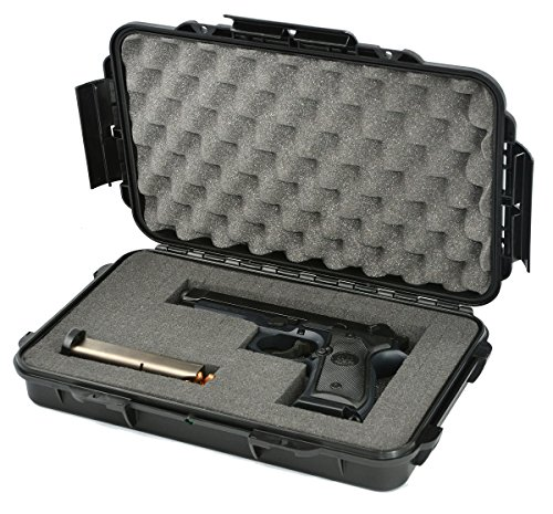 Waterproof Handgun Case Pistol Case Hard Case with Pre-cubed Foam the Elephant Elite EL012 Recommended for Any Gun of 11.5 Inches or Smaller, with Magazines