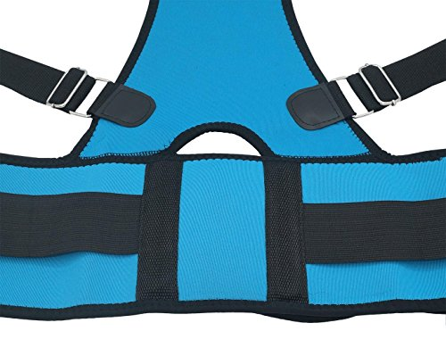 Comfort Elastic Posture Back Pain Upper Back Support Relief Brace Corrector For Adults & Kids Size S Light Blue by Panegy (Image #2)
