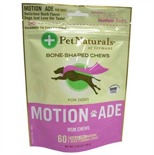 Pet Naturals Motion ADE Bone-Shaped Chews for Dogs, 60 Count, Duck Flavor, My Pet Supplies
