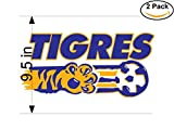 CanvasByLam Tigres Mexico Soccer Football Club FC 2 Stickers Car Bumper Window Sticker Decal Huge 9.5 inches
