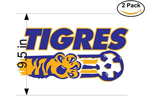 CanvasByLam Tigres Mexico Soccer Football Club FC 2 Stickers Car Bumper Window Sticker Decal Huge 9.5 inches by CanvasByLam