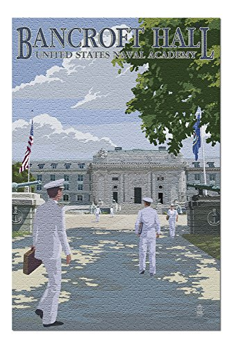Bancroft Hall - United States Naval Academy - Annapolis, Maryland (20x30 Premium 1000 Piece Jigsaw Puzzle, Made in USA!)