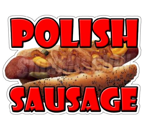 - Polish Sausage Concession Decal Stand Trailer Food Sign