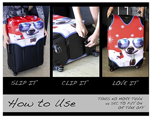 bBranded Suitcase Jersey Luggage Cover - Love My Dog (Small)