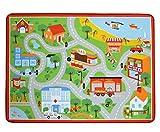 Tebery Kids Interested Play Carpet, Comfortable Urban Traffic Map Play Car Rug - 52'' x 39''