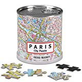 GeoToys – Paris Jigsaw Puzzle 100-Piece – Magnetic Puzzle for Geography Game and Learning Cities and Countries of the World
