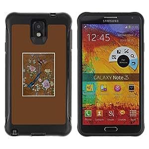 Suave TPU GEL Carcasa Funda Silicona Blando Estuche Caso de protección (para) Samsung Note 3 / CECELL Phone case / / Bird Floral Art Painting Vintage /